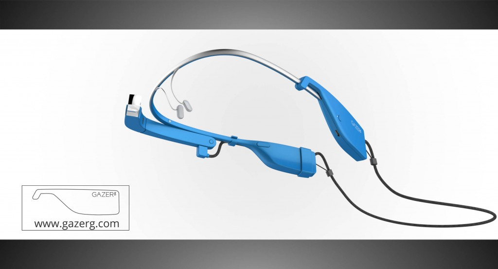 Sky color glasses with new battery for Google Glass – down side