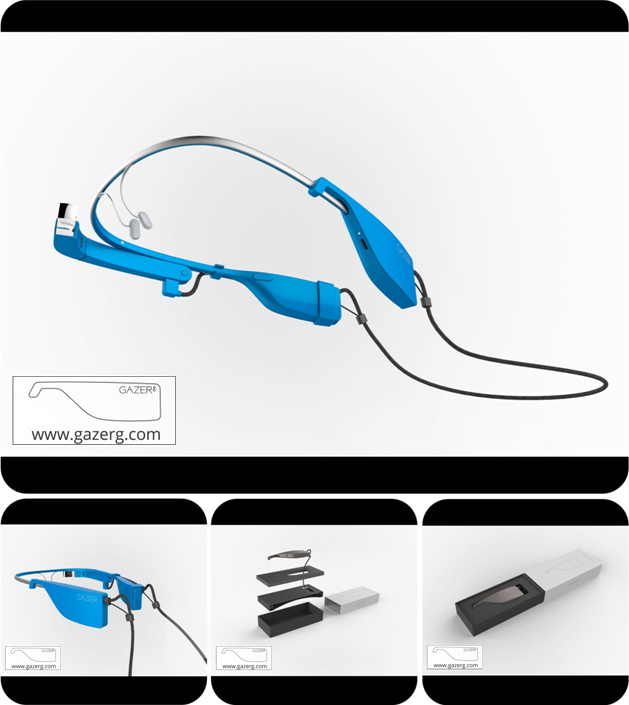 GazerG – Google Glass extended battery